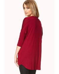 Forever 21 - Red Standout Cascading Top - Lyst