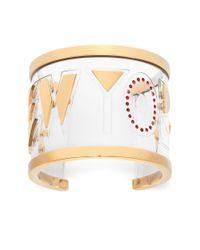 Maria Francesca Pepe | Metallic Small New York Plexi Cuff Bracelet | Lyst
