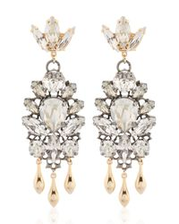 Anton Heunis | Metallic Swarovski Crystals Barbarella Earrings | Lyst