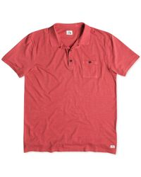 Quiksilver | Red Voices Solid Slub Polo for Men | Lyst