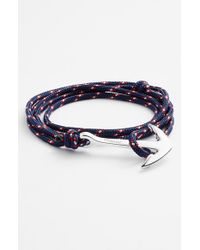 Miansai | Silver Anchor Rope Bracelet - Navy Blue for Men | Lyst