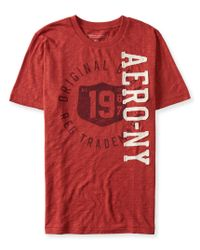 Aéropostale | Red Aero Ny 1987 Shield Logo Graphic T for Men | Lyst