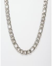 ASOS | Metallic Chain Detail Necklace for Men | Lyst