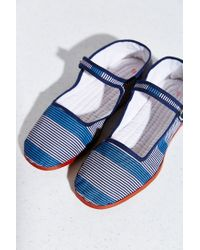 Urban Outfitters Blue Printed Mary Jane