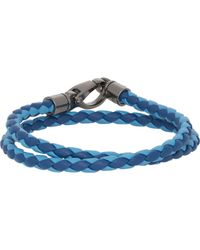 Tod's | Multicolor Braided Leather Double-wrap Bracelet for Men | Lyst
