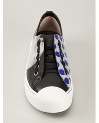 Fendi | Black Mixed Print Sneakers | Lyst