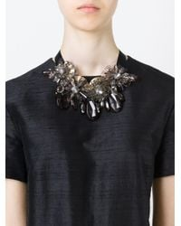 P.A.R.O.S.H. | Black Flower Ribbon Necklace | Lyst
