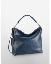Calvin Klein | Blue White Label Kenner Leather Hobo | Lyst