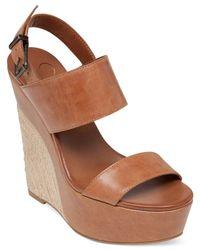 Jessica Simpson | Brown Anika Espadrille Platform Wedge Sandals | Lyst