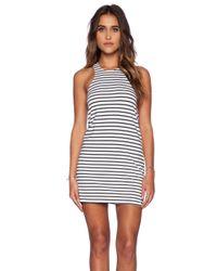 Blue Life White Striped Tank Dress