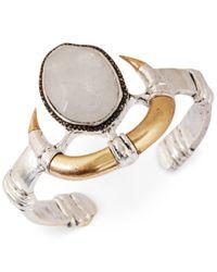 Lucky Brand - Metallic Two-Tone Modern Metals Organic Horn Cuff Bracelet - Lyst
