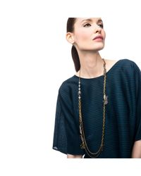 Lulu Frost - Metallic Bloom Long Necklace - Lyst