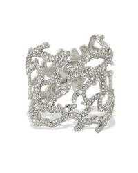 Kenneth Jay Lane | Metallic Crystal Pavé Branch Cuff | Lyst