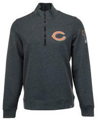 47 Brand Gray Men's Chicago Bears Forward Peak Quarter-zip Pullover for men