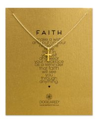 Dogeared | Metallic 14k Gold Dipped Cross Pendant Necklace | Lyst