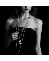 David Yurman | Metallic Cable Wrap Pendant With Diamonds | Lyst
