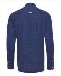 Jaeger - Blue Flannel Check Shirt for Men - Lyst