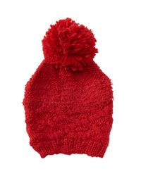 Aéropostale | Red Solid Cabled Beanie | Lyst