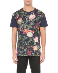 Vivienne Westwood | Blue Porcelain Roses Cotton-jersey T-shirt for Men | Lyst