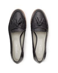 Jigsaw Black Phoebe Cleated Sole Loafers