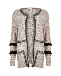 River Island | Gray V Neck Sequin Cardigan | Lyst