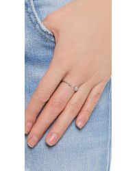 Tai - Metallic Asymmetrical Pave Ring - Lyst