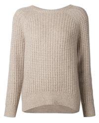 Nili Lotan - Brown Chunky Knit Sweater - Lyst