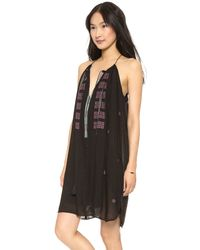 Love Sam Black Alexandria Embroidered Dress