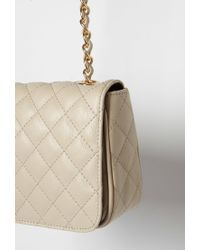 Forever 21 | Brown Quilted Faux Leather Crossbody Bag | Lyst