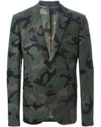 Valentino - Green Camouflage Blazer for Men - Lyst