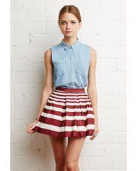 Forever 21 | Red Pleated Mini Skirt | Lyst