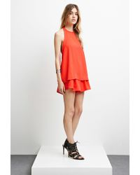 Forever 21 Red The Fifth Label Sahara Top
