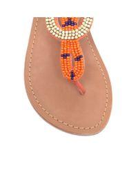 Carvela Kurt Geiger | Orange Kouros Flat Toe Post Sandals | Lyst