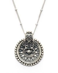 Satya Jewelry - Metallic 'mandala' Pendant Necklace - Lyst
