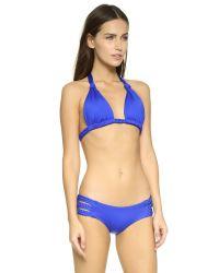 Vitamin A Blue Chloe Braid Halter Bikini Top