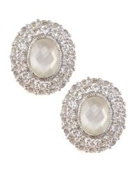 Judith Ripka - Pink Isabella Mother-of-pearl & Sapphire Earrings - Lyst