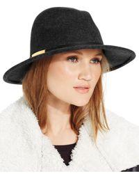 Calvin Klein Black Wool Felt Panama Hat