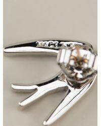 McQ - Metallic Swallow Earrings - Lyst