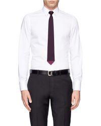 Paul Smith Purple Contrast Tip Silk Tie for men