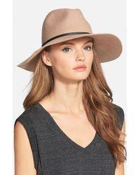 Hinge Brown Wide Brim Panama Hat