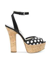 Michael Kors - White Michael Adria Ankle Strap Platform Sandals - Lyst