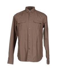 Valentino - Brown Shirt for Men - Lyst