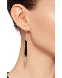 AS29 - Black Onyx Long Earrings - Lyst