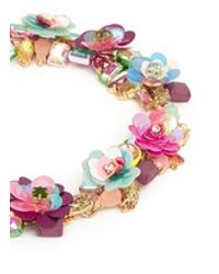 J.Crew | Multicolor Blooming Sequin Paillette Necklace | Lyst