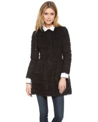 RED Valentino | Black Lace Coat | Lyst
