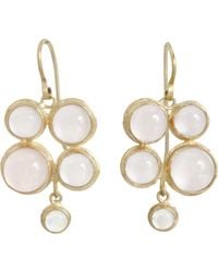 Judy Geib | Metallic Pink Moonstone Quadruple Drop Earrings | Lyst