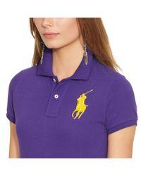 Polo Ralph Lauren Purple Sim-fit Big-pony Polo Shirt