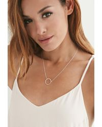 Forever 21 Metallic Magnolia Wire Wrapped Circle Necklace