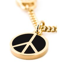 Marc By Marc Jacobs | Metallic 'Peace Out' Pendant Necklace | Lyst