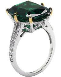 Carat* Green Grand Canary 8ct Cocktail Ring